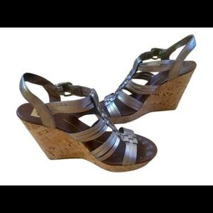 Dolce Vita DV Gladiator Wedges Metallic Size 9.5